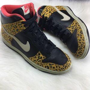 designer fashion 88d11 1640f Nike Shoes - Nike High Top leopard cheetah print sneakers